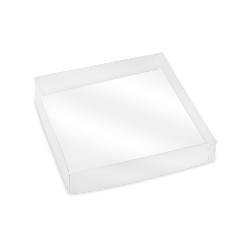 Clear Plastic Packaging, Acetate Lid, Square, Clear, 8 oz., 5-1/2 x 5-1/2 x 1