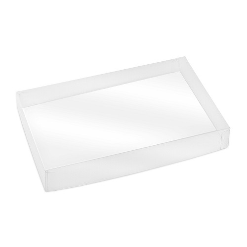 Clear Plastic Packaging, Acetate Lid, Rectangle, Clear, 8 oz., 7 x 4-1/2 x 1-1/8