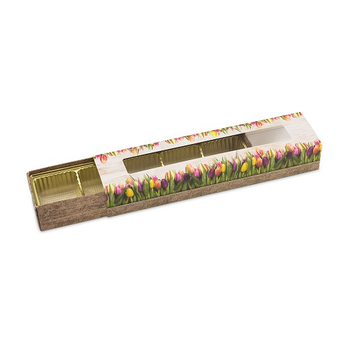Country Tulips, Decorative Slider Box, 5-Piece, Standard, 8-1/4 x 2 x 1-1/4