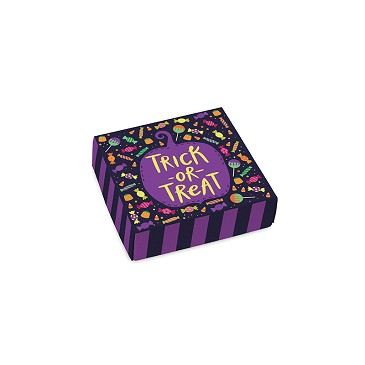 BY THE PIECE, Folding Carton, Lid, 3 oz., Petite, Square, Halloween Treats