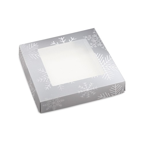 BY THE PIECE, Blizzard, Decorative Gift Box with Window, 5-1/2 x 5-1/2 x 1