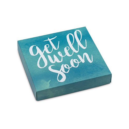 BY THE PIECE, Get Well Soon, Decorative Gift Box, 5-1/2 x 5-1/2 x 1