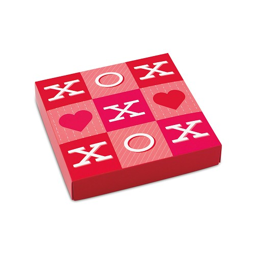 BY THE PIECE, Tic-Tac XO, Decorative Gift Box, 5-1/2 x 5-1/2 x 1-1/8