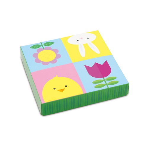 BY THE PIECE, Easter box, Decorative Gift Box, 5-1/2 x 5-1/2 x 1