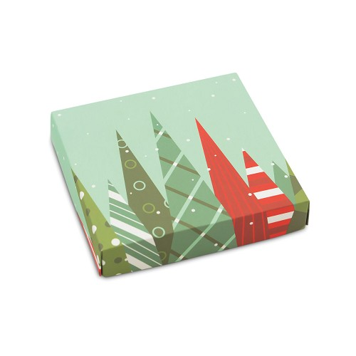 BY THE PIECE, Christmas Trees, Decorative Gift Box, 5-1/2 x 5-1/2 x 1