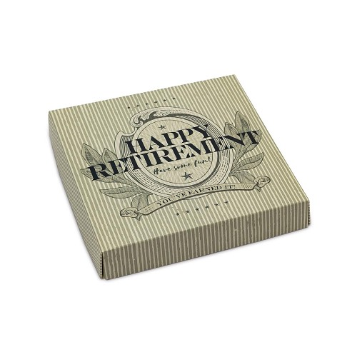 BY THE PIECE, Happy Retirement, Decorative Gift Box, 5-1/2 x 5-1/2 x 1