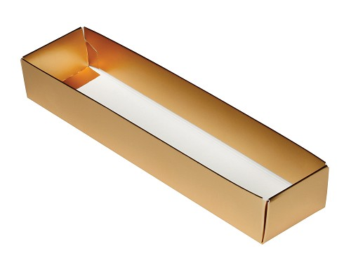 5-Piece Base, with Acetate lid, Standard, Metallic Gold, 8-3/4 x 2 x 1