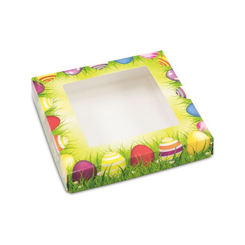 BY THE PIECE, Easter Meadow, Decorative Gift Box with Window, 5-1/2 x 5-1/2 x 1
