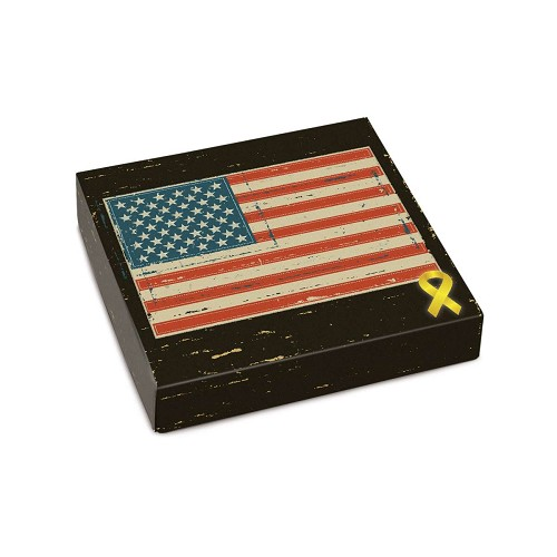 BY THE PIECE, American Pride, Decorative Gift Box, 5-1/2 x 5-1/2 x 1-1/8