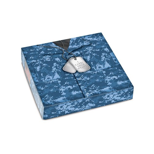 Military Blue, Decorative Gift Box, 5-1/2 x 5-1/2 x 1