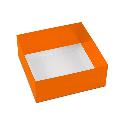 This Top - That Bottom, Base, Square, Orange, Double-Layer, 5-1/2 x 5-1/2 x 2-1/4