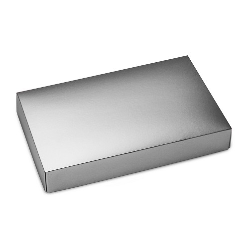 BY THE PIECE,  This Top - That Bottom Lid, Rectangle, Metallic Silver, 7 x 4-1/2 x 1