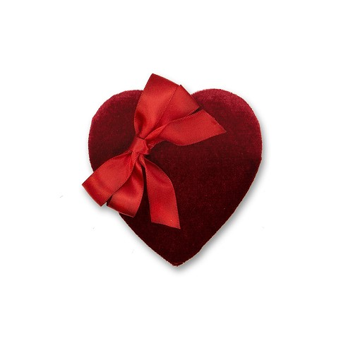 Heart Shaped Candy Box, Red Velvet, 2 oz., QTY/CASE-48