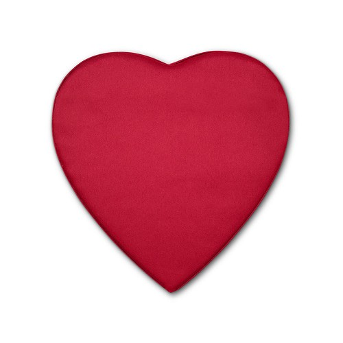 BY THE PIECE, Heart Shaped Candy Box, Satin Doll, Red, 8 oz.