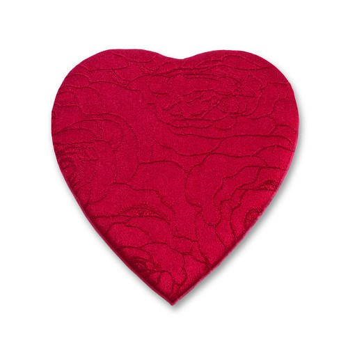 Heart Shaped Candy Box, Embroidered Rose, 8 oz. , QTY/CASE-12