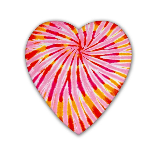 Heart Shaped Candy Box, Tie-Dyed, 8 oz., QTY/CASE-24
