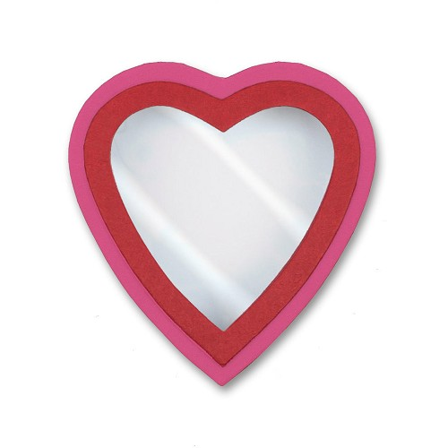 Heart Shaped Candy Box, Window, Coco Passion, Pink, 8 oz., QTY/CASE-24