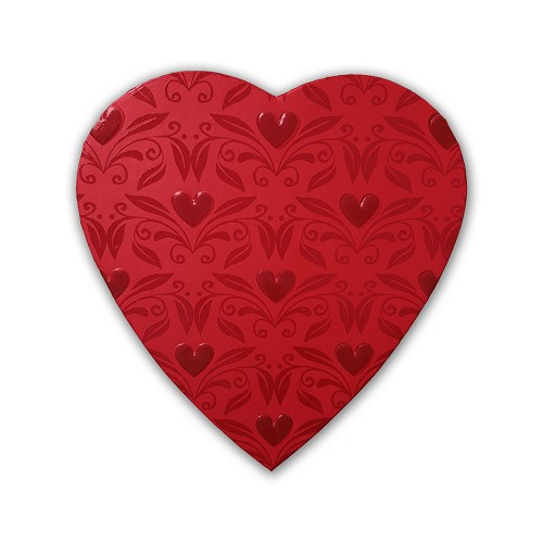 Heart Shaped Candy Box, With Love, Red, 8 oz., QTY/CASE-12