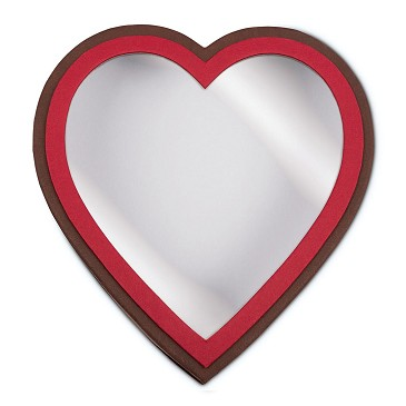 BY THE PIECE, Heart Shaped Candy Box, Window, Coco Passion, 1 lb.