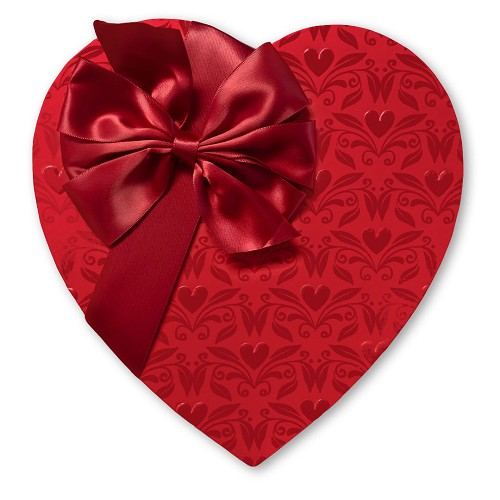 Heart Shaped Candy Box, With Love, Bow, 1 lb., QTY/CASE-6