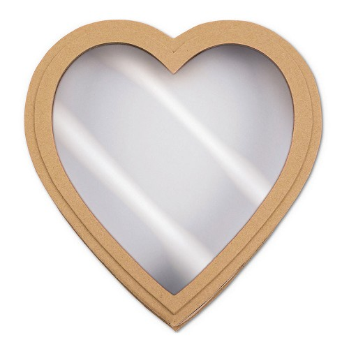 Heart Shaped Candy Box, Window, Coco Passion, Kraft, 1 lb., QTY/CASE-12