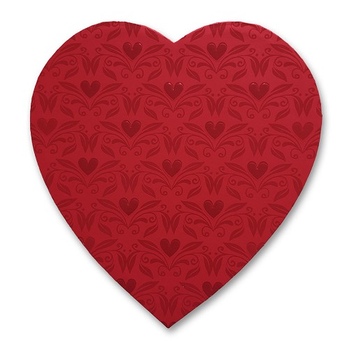 Heart Shaped Candy Box, With Love, 1 lb., QTY/CASE-12