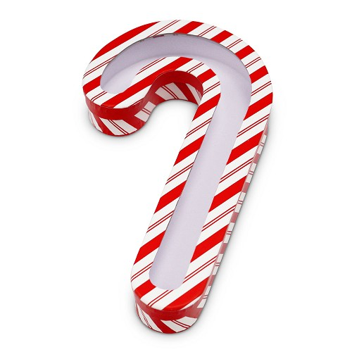 BY THE PIECE, Rigid Set-up Box, Striped Candy Cane with Window Film