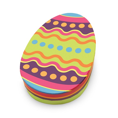 Rigid Set-up Box, Colorful Egg, Oval, QTY/CASE-12