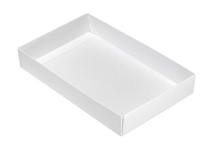 Folding Carton, This Top - That Bottom, Base, 8 oz., Rectangle, White, Single-Layer, QTY/CASE-50