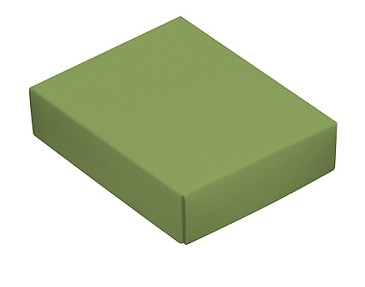 Folding Carton, This Top - That Bottom, Lid, 4 oz., Rectangle, Green, QTY/CASE-50