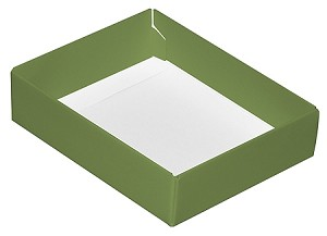 Folding Carton, CLOSEOUT, This Top - That Bottom, Base, 4 oz., Rectangle, Green, Single-Layer, QTY/CASE-50