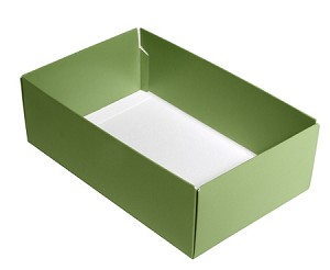 BY THE PIECE, Folding Carton, This Top - That Bottom Base, 8 oz., Rectangle, Green, Double-Layer