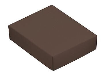 BY THE PIECE, Folding Carton, This Top - That Bottom Lid, 4 oz., Rectangle, Brown