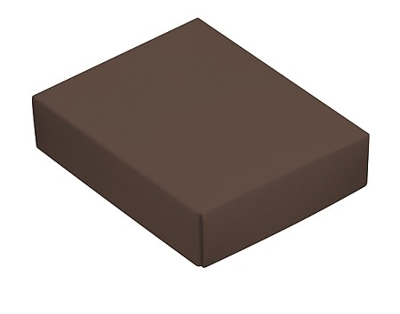 This Top - That Bottom, Lid, Rectangle, Brown, 4-1/2 x 3-3/4 x 1