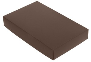 BY THE PIECE, Folding Carton,  This Top - That Bottom Lid, 8 oz., Rectangle, Brown