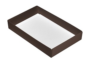 Folding Carton, This Top - That Bottom, Base, 8 oz., Rectangle, Brown, Single-Layer, QTY/CASE-50