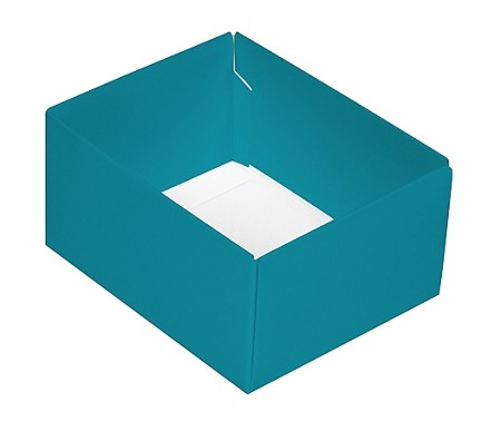 This Top - That Bottom, Base, Rectangle, Teal, Double-Layer, 4-1/2 x 3-3/4 x 2-1/4