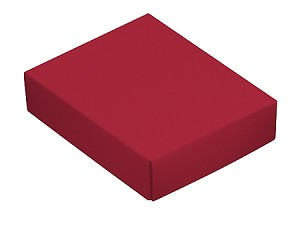 BY THE PIECE, Folding Carton, This Top - That Bottom Lid, 4 oz., Rectangle, Red