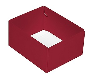 BY THE PIECE, Folding Carton, This Top - That Bottom Base, 4 oz., Rectangle, Red, Double-Layer