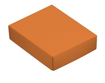 Folding Carton, This Top - That Bottom, Lid, 4 oz., Rectangle, Orange, QTY/CASE-50