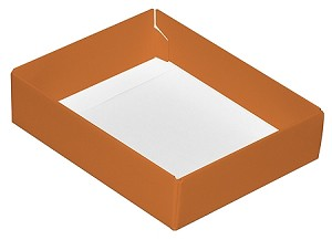 Folding Carton, This Top - That Bottom, Base, 4 oz., Rectangle, Orange, Single-Layer, QTY/CASE-50