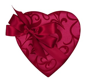 BY THE PIECE, Heart Box, Bow and Sash, Passion Ivy, 8 oz.