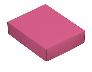 BY THE PIECE, Folding Carton, This Top - That Bottom Lid, 4 oz., Rectangle, Pink