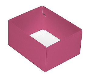 Folding Carton, This Top - That Bottom, Base, 4 oz., Rectangle, Pink, Double-Layer, QTY/CASE-50