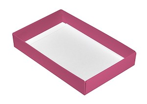 Folding Carton, CLOSEOUT, This Top - That Bottom, Base, 8 oz., Rectangle, Pink, Single-Layer, QTY/CASE-50