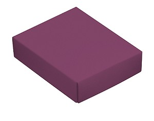 BY THE PIECE, Folding Carton, This Top - That Bottom Lid, 4 oz., Rectangle, Purple