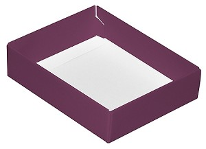 Folding Carton, CLOSEOUT, This Top - That Bottom, Base, 4 oz., Rectangle, Purple, Single-Layer, QTY/CASE-50