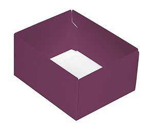 Folding Carton, This Top - That Bottom, Base, 4 oz., Rectangle, Purple, Double-Layer, QTY/CASE-50
