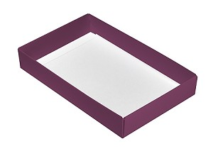 Folding Carton, This Top - That Bottom, Base, 8 oz., Rectangle, Purple, Single-Layer, QTY/CASE-50