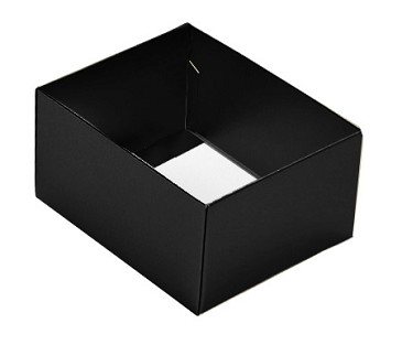Folding Carton, This Top - That Bottom, Base, 4 oz., Rectangle, Black, Double-Layer, QTY/CASE-50